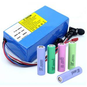 Bateria de lítio 18650 48V 12AH 48V 500W Bateria elétrica para bicicleta com BMS