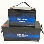 Bateria solar LiFePO4 de ciclo profundo 12V 100Ah / 200Ah para carrinho de golfe Bateria de íon-lítio