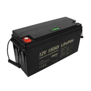 Bateria Lifepo4 recarregável de ciclo profundo 12v 150Ah 200Ah 250Ah 300Ah