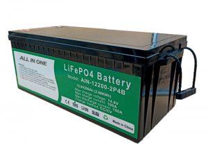 TUDO EM UM 2,56 kWh 2.000 ciclos de vida da bateria de 12v pacote de lítio p4 200ah para veículo elétrico