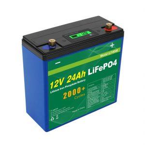 Solar Deep Cycle 24v 48v 24ah Lifepo4 bateria UPS 12v 24ah bateria
