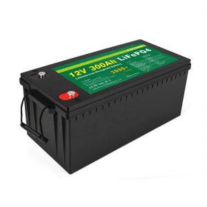 TUDO EM UM Bateria de íon de lítio de ciclo profundo 12v 300Ah LiFePo4 bateria de armazenamento