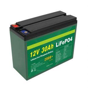 Fabricante OEM Bateria recarregável 12V 30Ah 4S5P Lítio 2000+ Deep Cycle Lifepo4