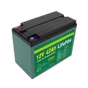 Manutenção Personalizada Solar 12v 40ah 42ah Lifepo4 Cell Lifepo4 Bateria com BMS