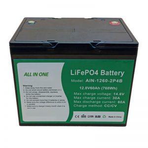 ALL IN ONE Bateria cilíndrica de lítio de 2.000 ciclos, 12v60Ah, para armazenamento de energia