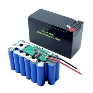 ALL IN ONE 18650 3S5P 12Volt Bateria de lítio 11Ah recarregável