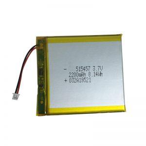Baterias de polímero de lítio 3,7 V 2200 mAh para dispositivos domésticos inteligentes