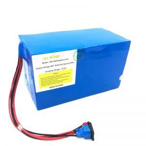 Pacote de bateria de lítio personalizado 18650 48V 40Ah para E-bike, E-boat, Scooter Elétrico