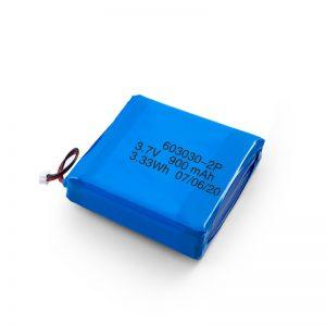 Bateria Li-Po Lipo recarregável personalizada de 3,7 V 450 530 550 700 750 800 900Mah