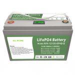 TUDO EM UM Bateria LiFePO4 de ciclo profundo 12V100Ah com BMS inteligente para sistema de armazenamento de energia doméstico