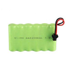 Bateria recarregável NiMH AA 2400mAh 7,2 V