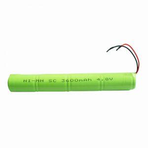 Bateria recarregável NiMH SC 3600mAH 4,8V