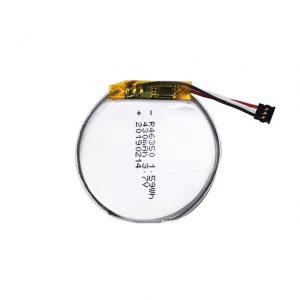 Bateria personalizada LiPO 46350 3,7 V 350mAH bateria de relógio inteligente 46350 pequena bateria plana redonda de polímero de lítio para brinquedos